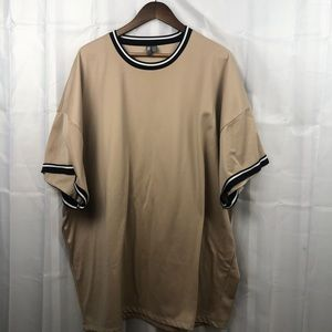 ASOS Beige Short Sleeve Tee with Black accents